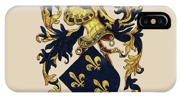 Supply iPhone Case - King Of France Coat Of Arms - Livro Do Armeiro-mor  by Serge Averbukh