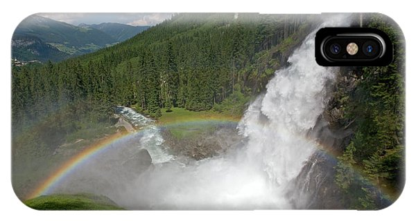 Krimml Waterfall And Rainbow IPhone Case