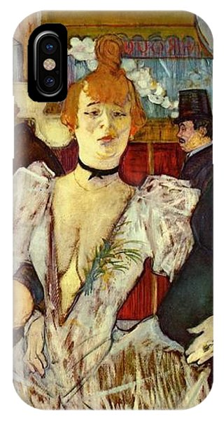 La Goulue Arriving At The Moulin Rouge With Two Women IPhone Case