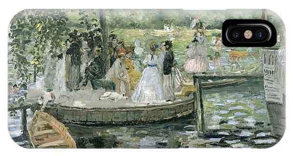 French Impressionism iPhone Case - La Grenouillere by Pierre Auguste Renoir