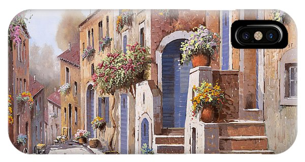 Sunny iPhone Case - I Gradini Al Sole by Guido Borelli
