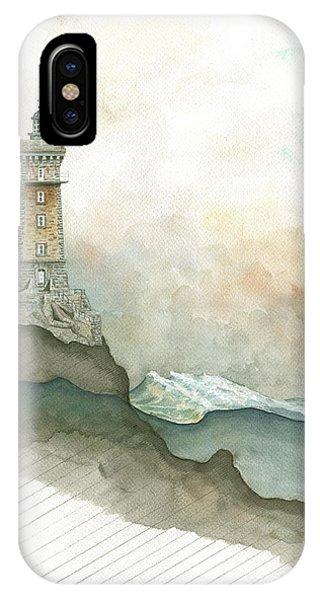 Lighthouse iPhone Case - La Vieille Lighthouse by Juan Bosco