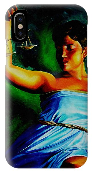 Fairness iPhone Case - Lady Justice by Laura Pierre-Louis