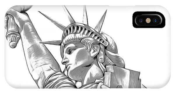 Mixed-media iPhone Case - Lady Liberty by Greg Joens