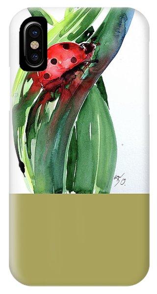 Ladybug iPhone Case - Ladybird by Kovacs Anna Brigitta