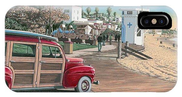 Laguna Beach iPhone Case - Laguna Beach Woodie by Andrew Palmer