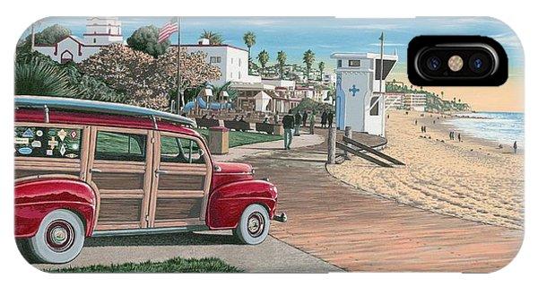 Santa Cruz Surfing iPhone Case - Laguna Beach Woodie by Andrew Palmer
