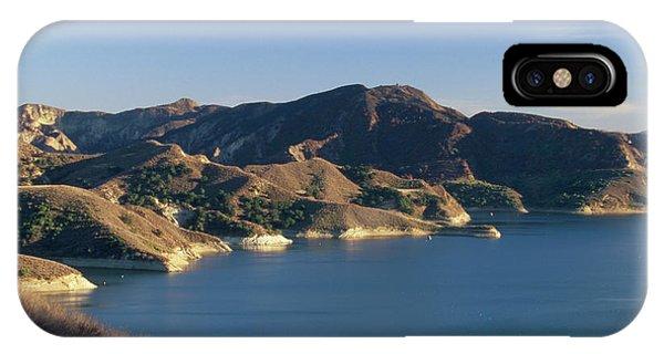 Water Ski iPhone Case - Lake Piru by Soli Deo Gloria Wilderness And Wildlife Photography