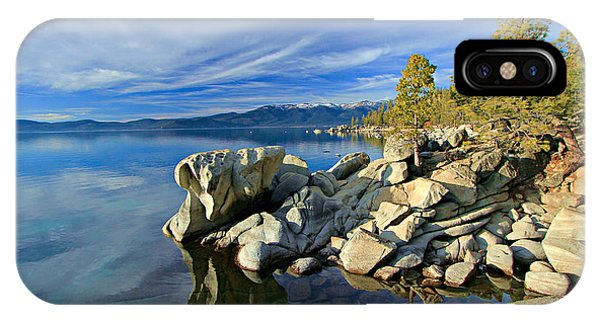 IPhone Case featuring the photograph Lake Tahoe Rocks by Sean Sarsfield