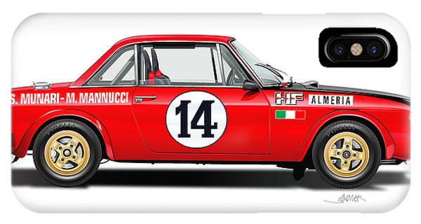 Lancia Fulvia Hf Illustration IPhone Case