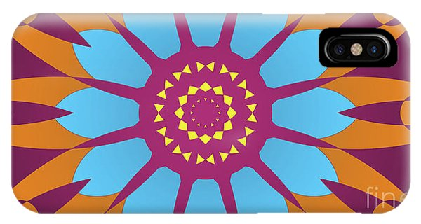 Arte iPhone Case - Landscape Purple Back And Abstract Orange And Blue Star by Drawspots Illustrations