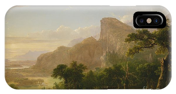 Plowing iPhone Case - Landscape Scene From Thanatopsis by Asher Brown Durand