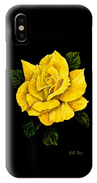 Large Yellow Rose IPhone Case