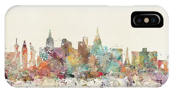 Las Vegas iPhone X Case - Las Vegas Skyline by Bri Buckley
