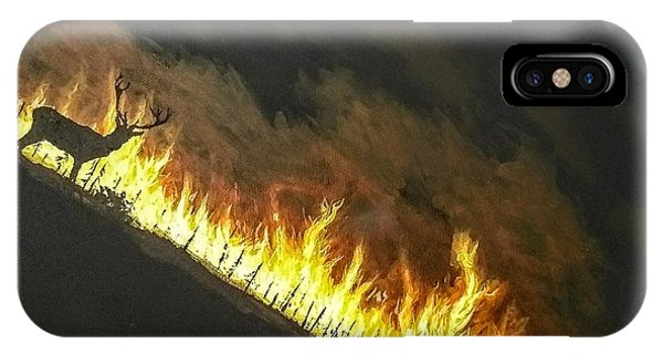 IPhone Case featuring the painting Last Look Back Home by Kevin Daly