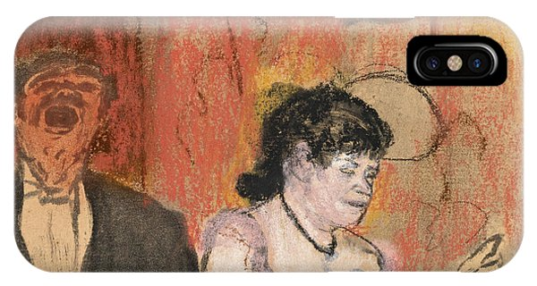 Impressionistic iPhone Case - Le Duo by Edgar Degas