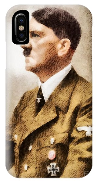Wwi iPhone Case - Leaders Of Wwii - Adolf Hitler by John Springfield
