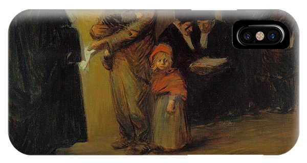 Courthouse iPhone Case - Legal Assistance by Jean-Louis Forain
