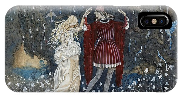 Swedish Painters iPhone Case - Lena Dances With The Knight by John Bauer