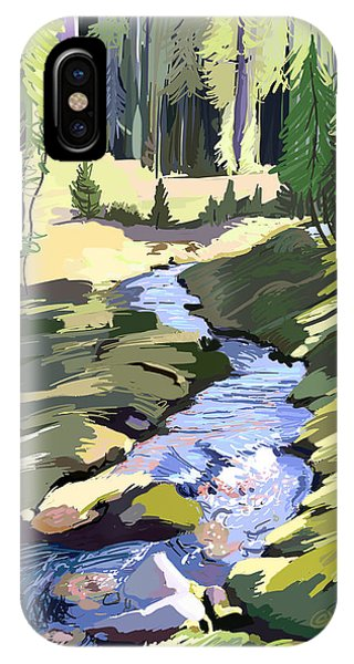 Lena Peak Stream IPhone Case