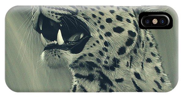 Big Cat iPhone Case - Leopard Portrait by Aaron Blaise