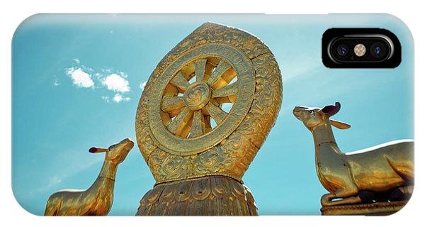 Kora iPhone Case - Lhasa Jokhang Temple Fragment Tibet by Raimond Klavins