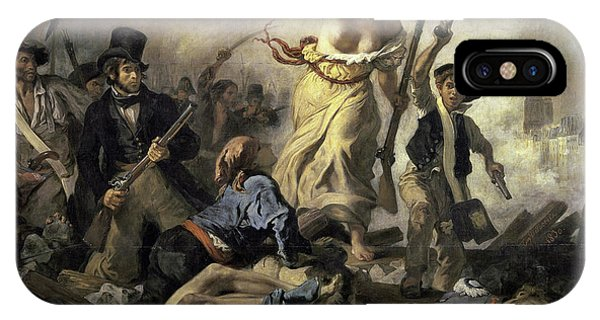 King Charles iPhone Case - Liberty Leading The People by Ferdinand Victor Eugene Delacroix
