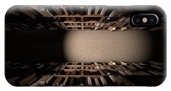 Shelves iPhone Case - Library Bookshelf Aisle by Allan Swart