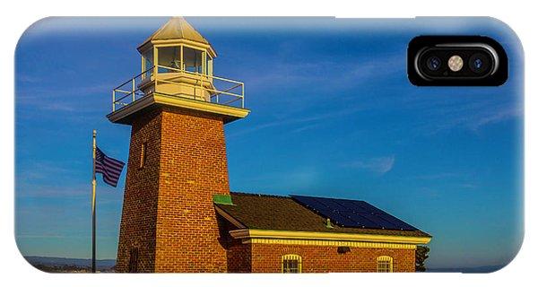Santa Cruz Surfing iPhone Case - Lighthouse Point by Garry Gay