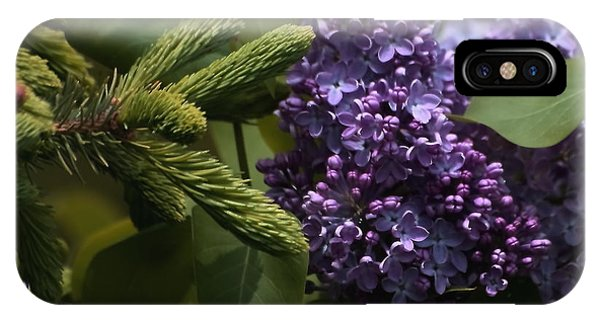 Lilacs In Bloom IPhone Case