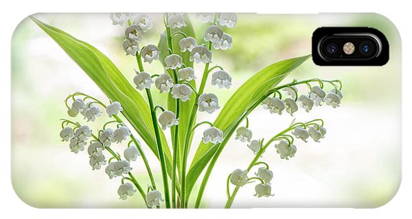 Close Focus Floral iPhone Case - Lily Of The Valley by Jacky Parker