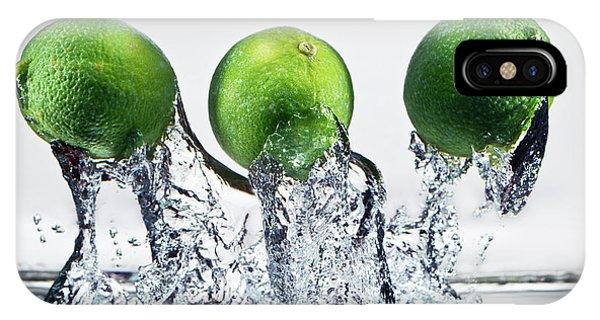 Stop Action iPhone Case - Lime Freshsplash by Steve Gadomski