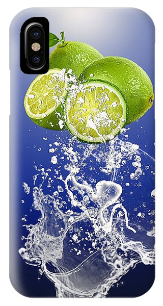 Lime Splash IPhone Case