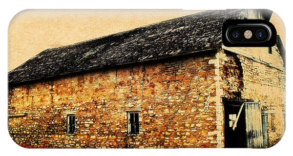 Lime Stone Barn IPhone Case