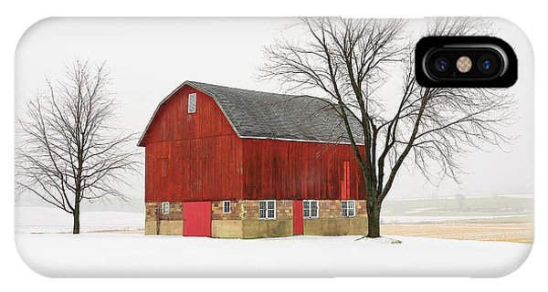 Little Red Barn IPhone Case