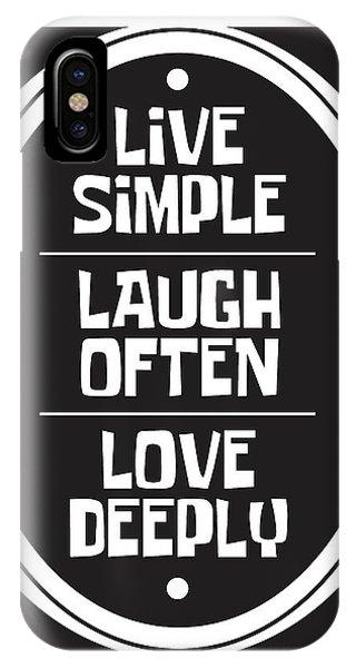 Simple iPhone Case - Live Love Laugh by Studio Grafiikka