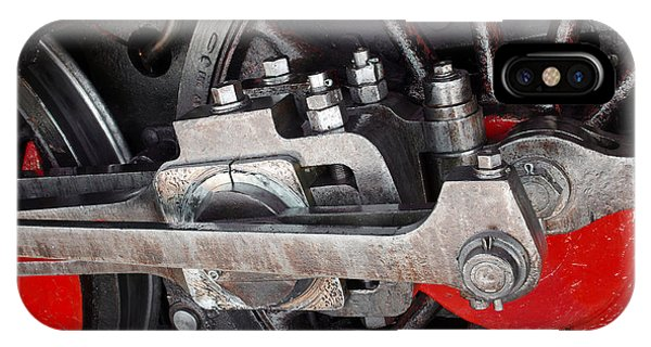 Mechanism iPhone Case - Locomotive Wheel by Carlos Caetano