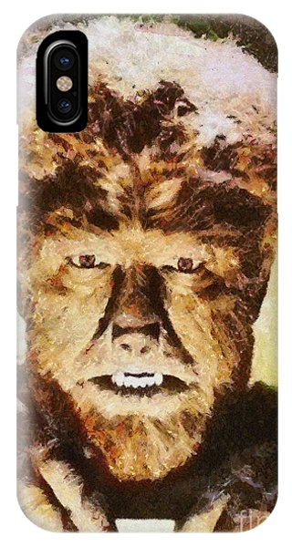 Dracula iPhone Case - Lon Chaney Jr, As The Wolfman by Mary Bassett