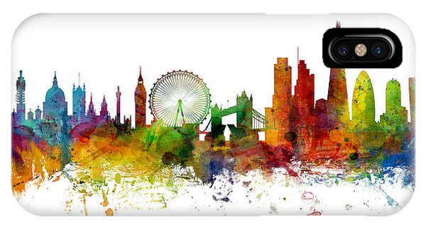 Michael iPhone Case - London England Skyline Panoramic by Michael Tompsett