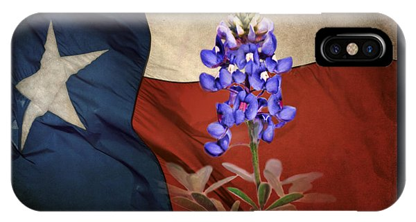 Lone Star Bluebonnet IPhone Case