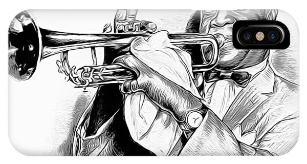 Trumpet iPhone Case - Louis Armstrong by Greg Joens