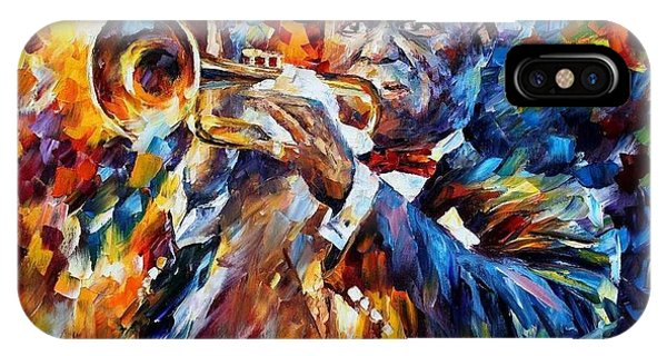 Afremov iPhone X Case - Louis Armstrong by Leonid Afremov