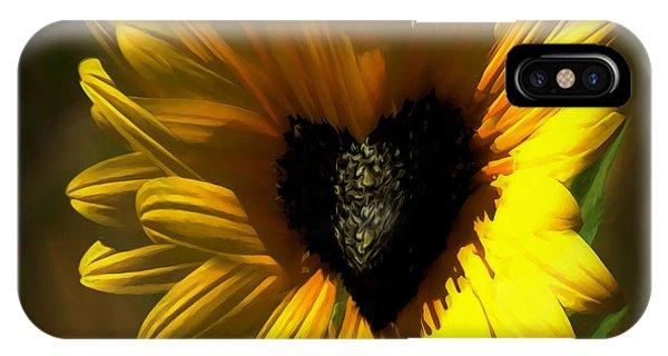 Love Sunflower IPhone Case