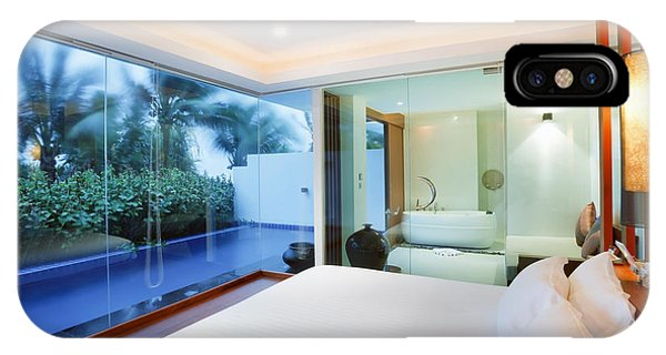 Toilet iPhone Case - Luxury Bedroom by Setsiri Silapasuwanchai