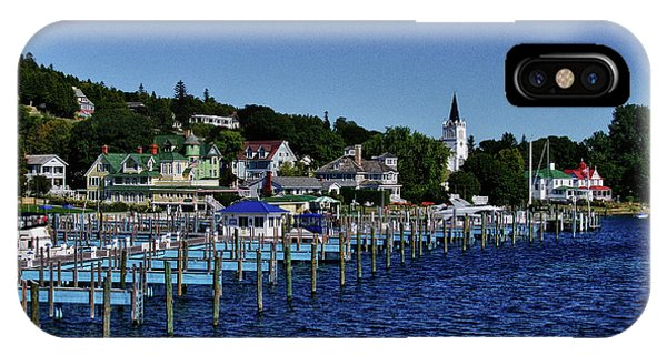 Mackinac By The Docks IPhone Case