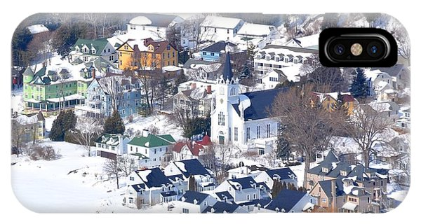 Mackinac Island Winter IPhone Case
