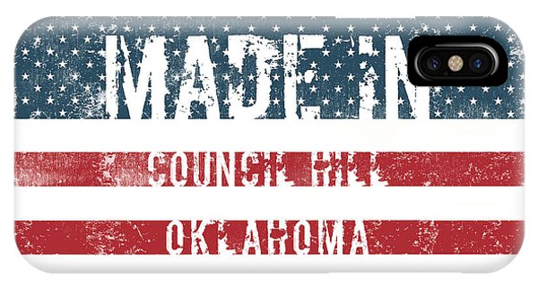 Ok iPhone Case - Made In Council Hill, Oklahoma by Tinto Designs
