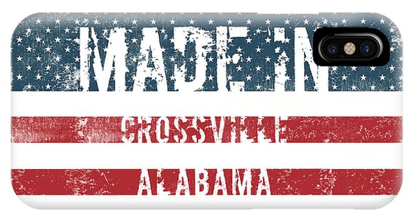 Crossville iPhone X Case - Made In Crossville, Alabama by Tinto Designs