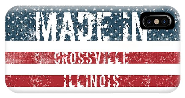 Crossville iPhone X Case - Made In Crossville, Illinois by Tinto Designs