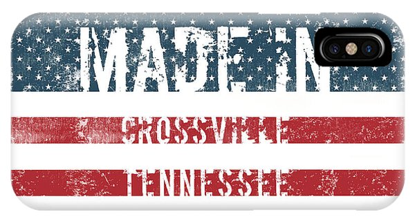 Crossville iPhone X Case - Made In Crossville, Tennessee by Tinto Designs